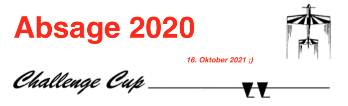 Absage challenge Cup2020